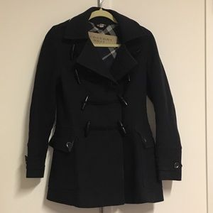 Burberry Wool Toggle Coat, Sz 2